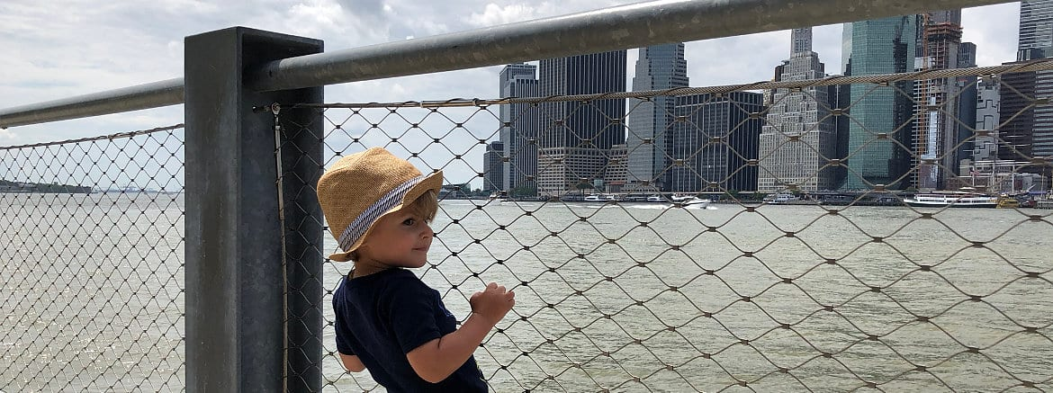 Boy on the Brooklyn Waterfront